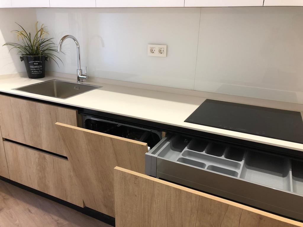 Reforma de cocina moderna de madera